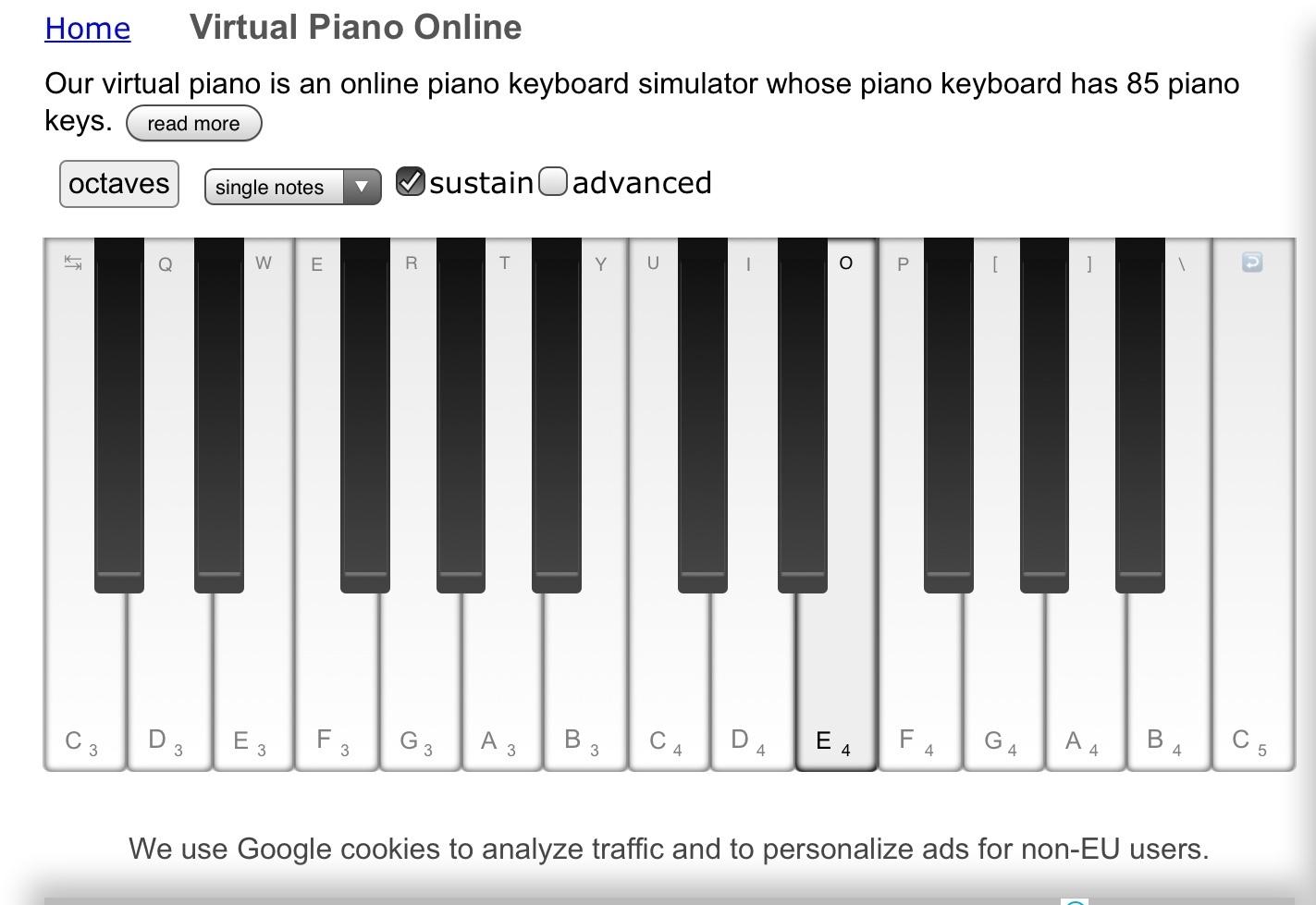 意外と押しやすい、長めの鍵盤が特徴的です。