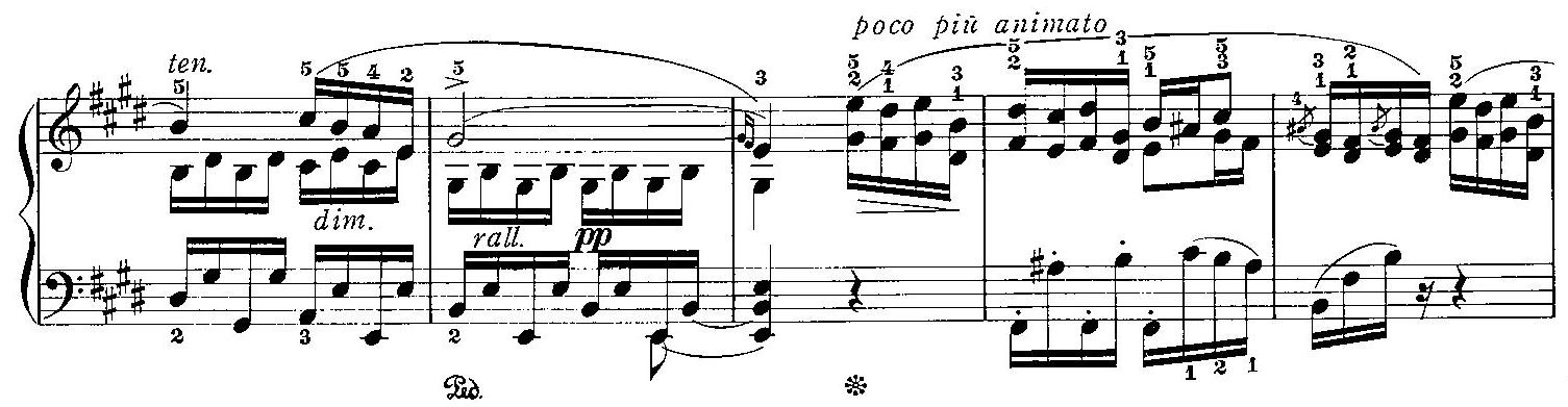 rall.(ラレンタンド)表記の楽譜