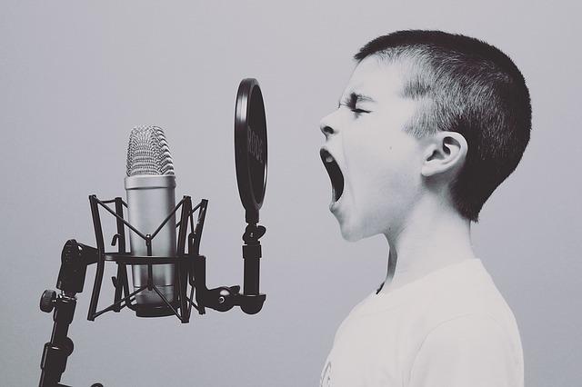男の子が歌う